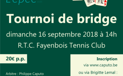 Tournoi de bridge 2018
