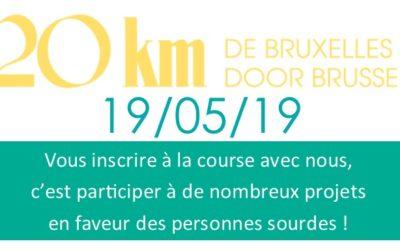 Inscription aux 20 km de Bruxelles 19 mai 2019