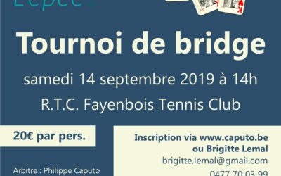 Tournoi de bridge 2019