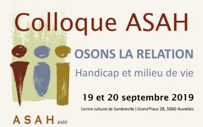 Colloque ASAH 19 et 20 septembre 2019