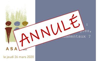 ANNULÉ: ASAH : Journée de formation et d'échanges le 26 mars 2020